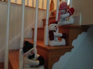 stair snowmen